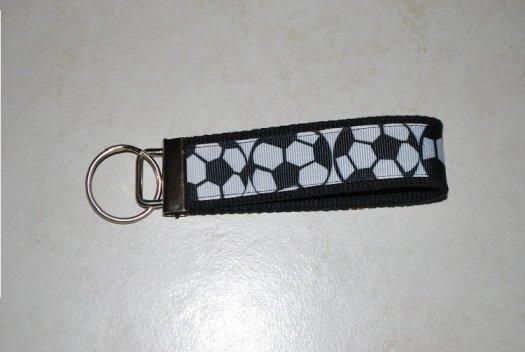 Key chain Black with soccer balls