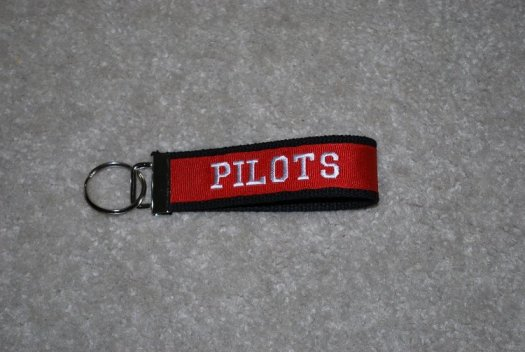 Key chain Black and Red with PILOTS