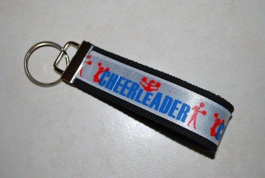 Key chain Black with cheerleader