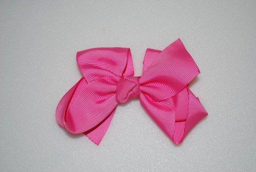 Ribbon Hair Bow - JEC-HOTPINK-2