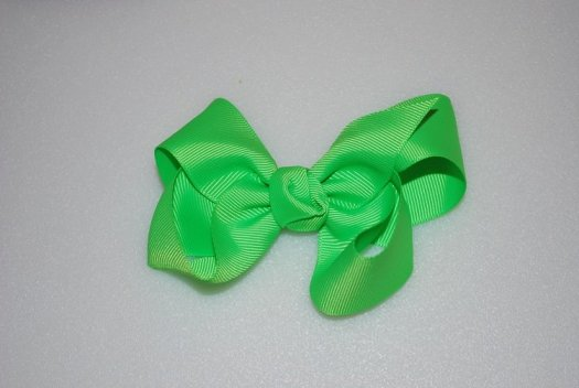 Ribbon Hair Bow - JEC-LIME-3