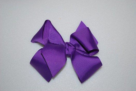Ribbon Hair Bow - JEC-PURPLE-4