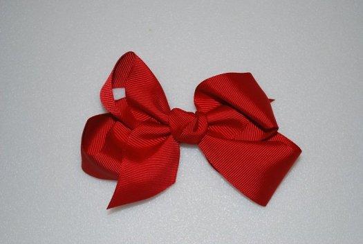 Ribbon Hair Bow - JEC-RED-5