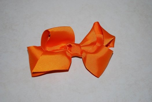 Ribbon Hair Bow - JEC-ORANGE-8