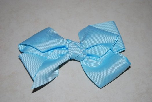 Ribbon Hair Bow - JEC-LTBLUE-9