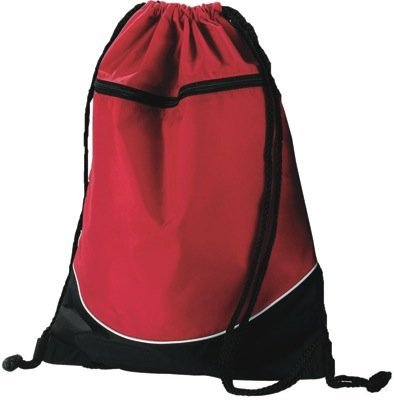 Tri-Color Drawstring Backpack (Red, Black and White)