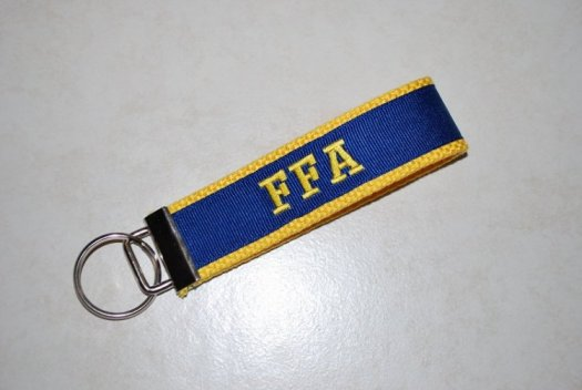 Key Chain - Yellow and blue with FFA