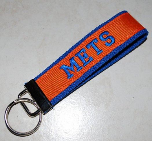 Key chain - Orange and Blue with METS