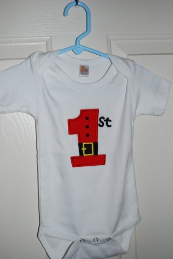 1st Applique on onesie