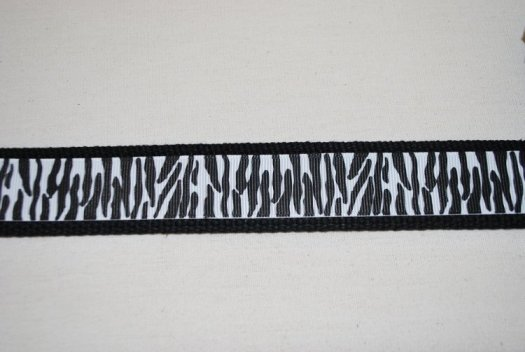 Key Chain - Black with Zebra Print