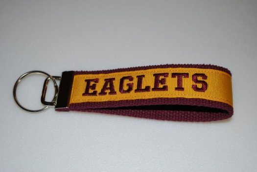 Key Chain - Garnet and Gold with EAGLETS