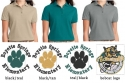 BSE design on Ladies Silk Touch Polo Left chest