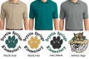 BSE design on Men's Silk Touch Polo Left chest